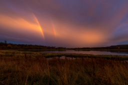 Double rainbow during a fantastic sunset.