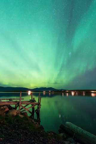 Autumn aurora in Abisko.