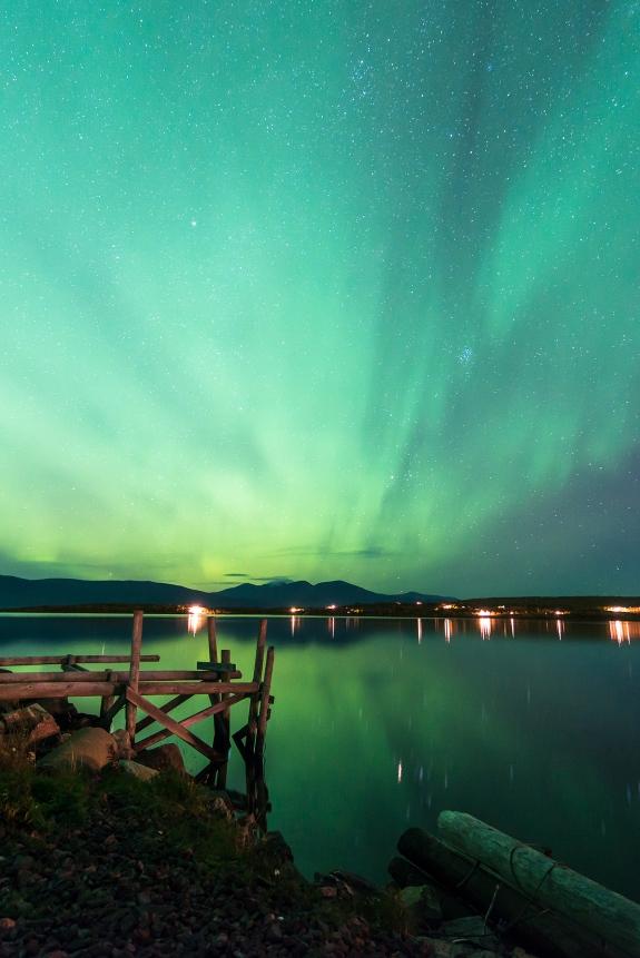 Autumn aurora in Abisko.